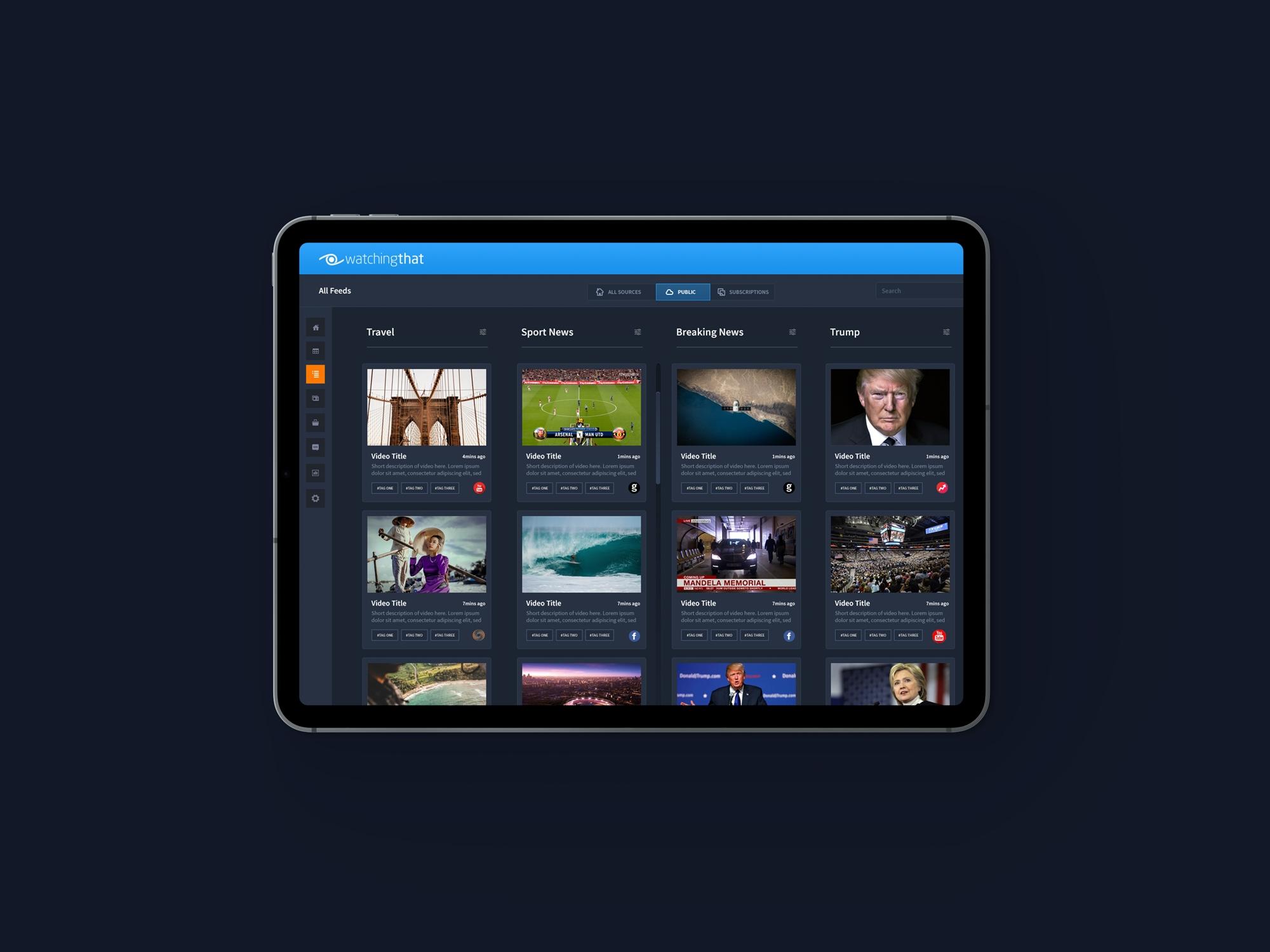 Video Dashboard UX Design